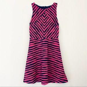Xhilaration Pink Striped Skater Dress Medium